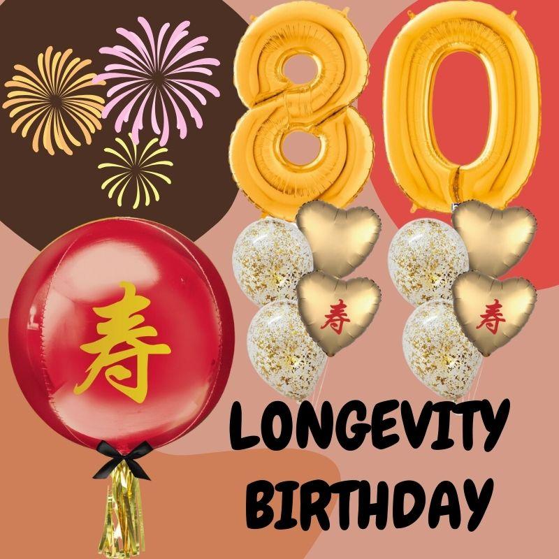 Longevity Birthdays by Give Fun Singapore Balloons