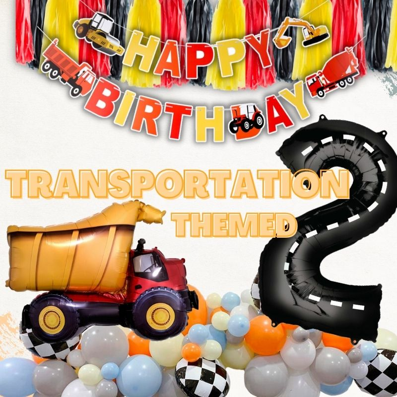 Transportation Themed by Give Fun Singapore Balloons
