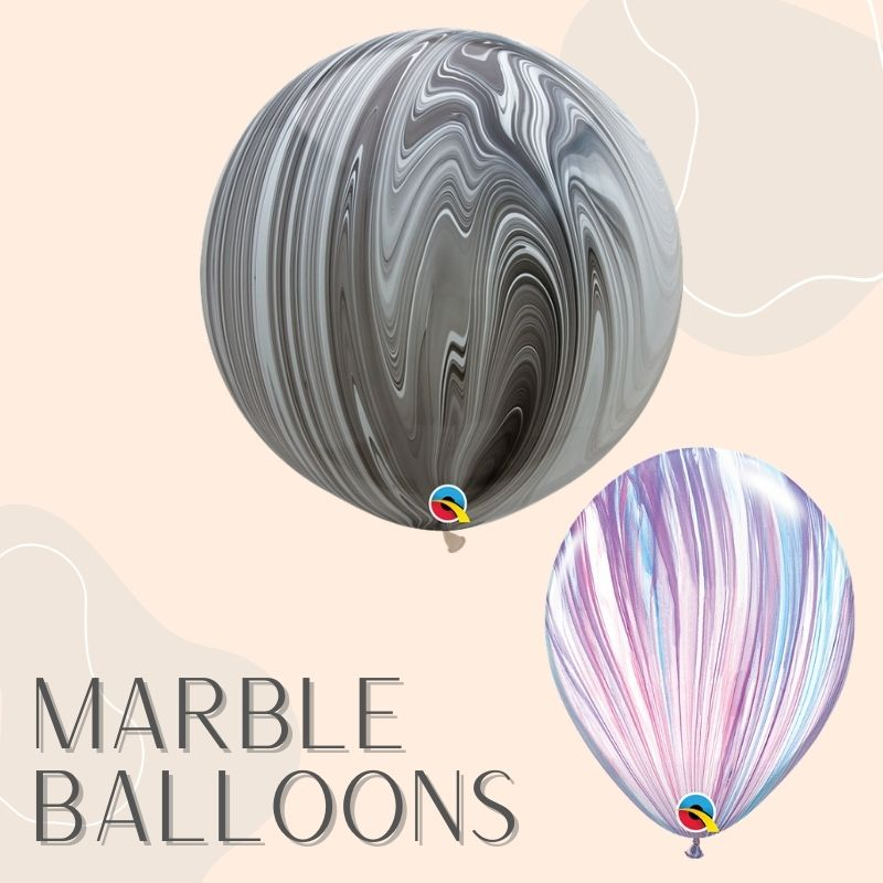 Helium Balloons Delivery Singapore Party Supplies Decorations Marble Superagate Balloon