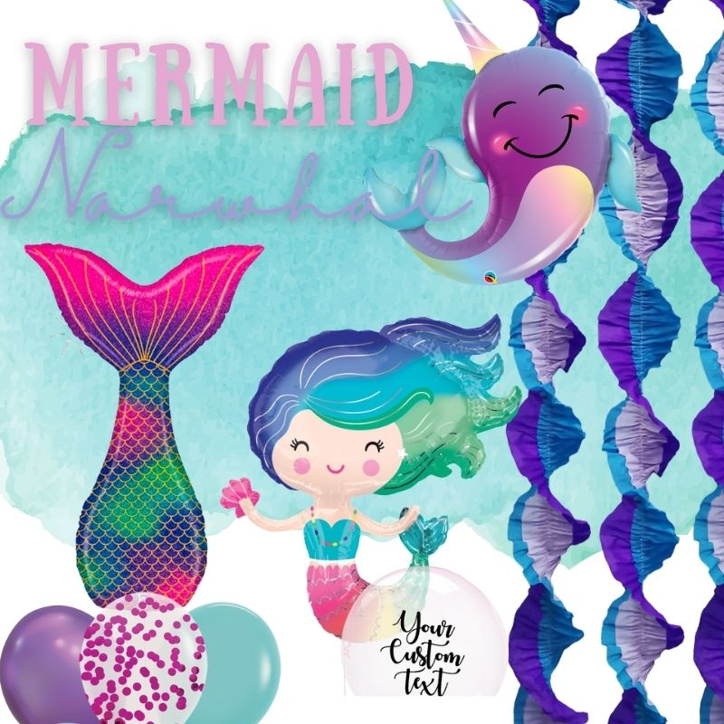 Mermaid & Narwhal by Give Fun Singapore Balloons