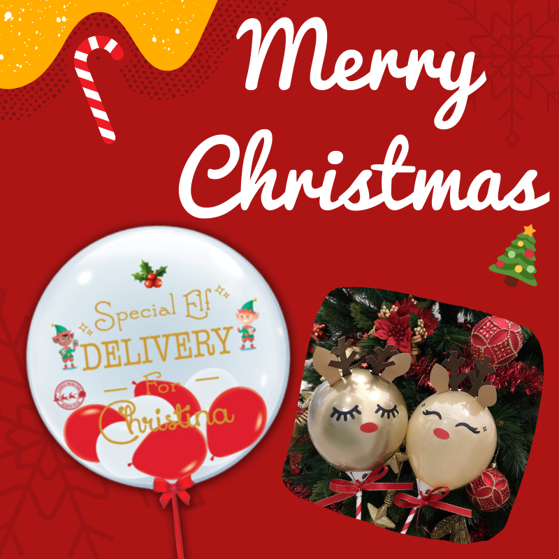 Give Fun Singapore Helium Balloons Party Supplies Decoration Birthday Same Day Delivery Self Pick Up Oxley Bizhub 2 best Gift balloon Christmas gifts, celebrations Merry Christmas