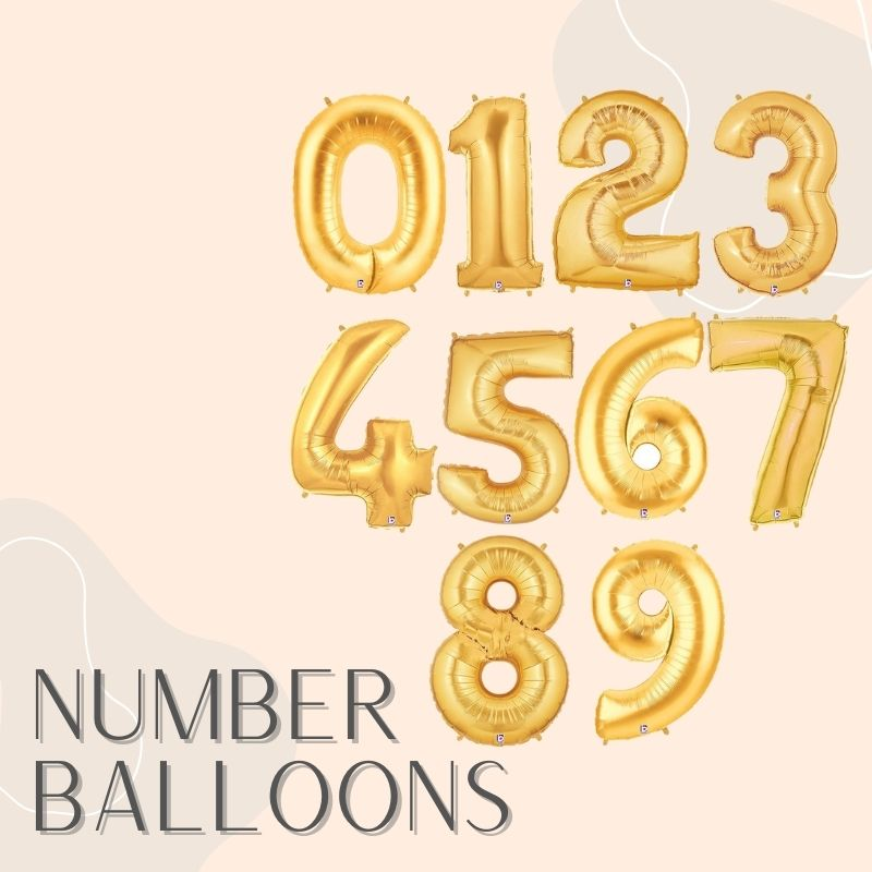 Helium Balloons Same Day Delivery Singapore Party Supplies Decorations Number Digit Giant Balloon
