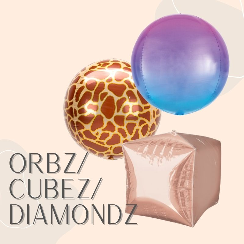Helium Balloons Delivery Singapore Party Supplies Decorations Balloon ORBZ Sphere Shaped Diamond Cube