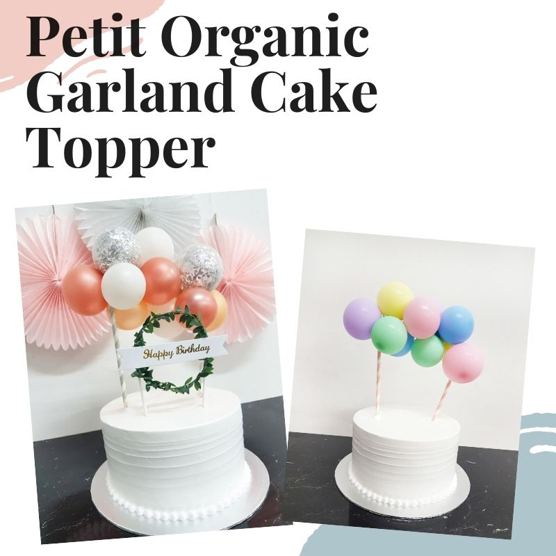 Helium Balloons Same Day Delivery trending organic balloon garland arch set up birthday party event grand opening chalk matte color Give Fun Singapore Cake Topper