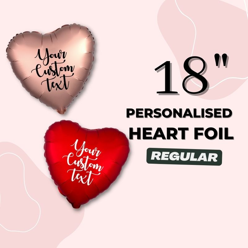 Personalised Heart Foil Balloons by Give Fun Singapore Party Balloons
