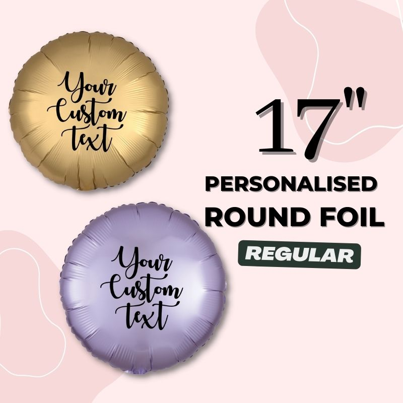 Personalised Round Foil Balloons by Give Fun Singapore Party Balloons