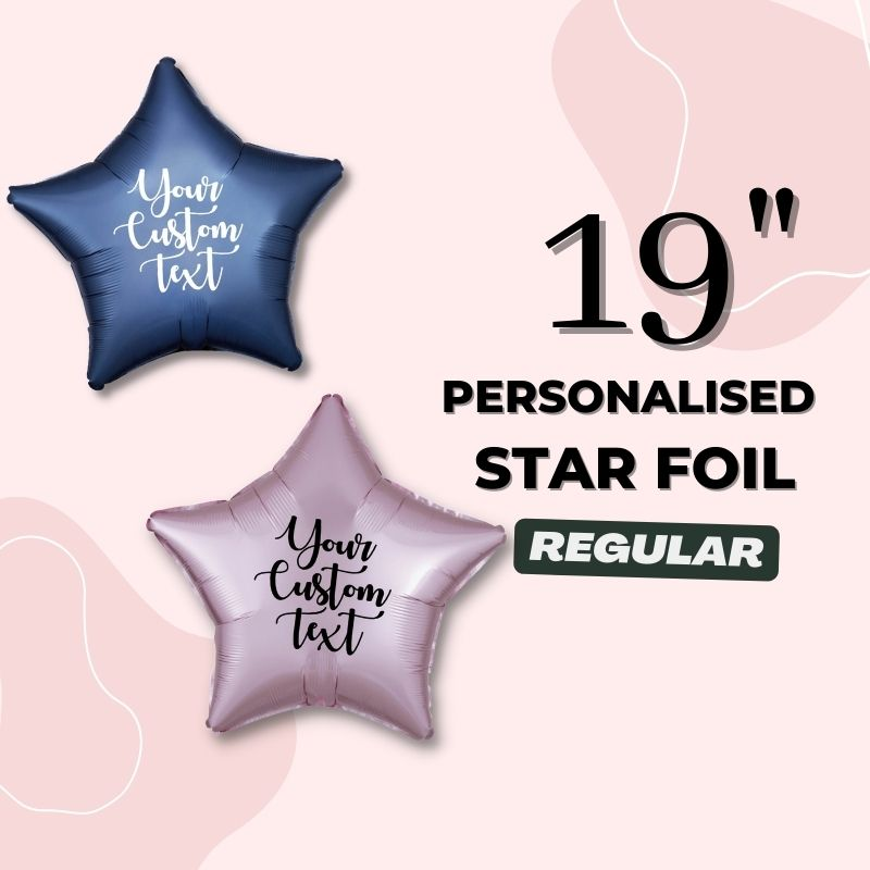 Personalised Star Foil Balloons by Give Fun Singapore Party Balloons