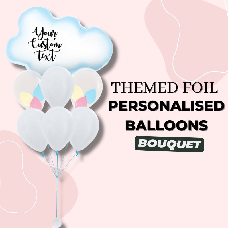 Themed Foil Personalised Balloons Bouquet by Give Fun Singapore Party Balloons