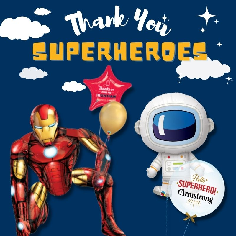 Thank You Superheroes by Give Fun Singapore Balloons