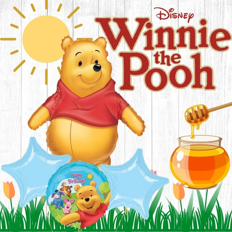 Winnie the Pooh Party Balloon Licensed by Give Fun Singapore Party Supplies