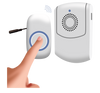 Wireless Vibrating Switch Adapted Caregiver Alert Pager Chime for people with disabilities, senior care