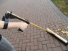 RoboHandle grip makes it easier to hold onto your push broom.
