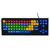 MyBoard keyboard with lower case letters, big easy keys and color coding.