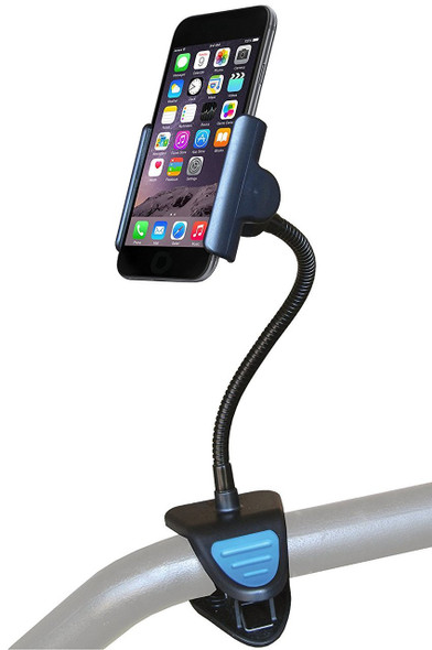 Viewbase ipod, iphone, smartphone mount clamps to bed rail and walker frame