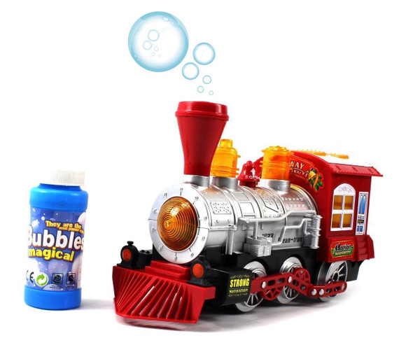 Switch Adapted Bump and Go Music and Lights Bubble Train for kids with disabilities.