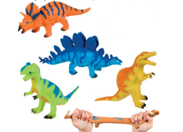 Squishimals Dino bead filled durable rubber sensory toy is perfect for ASD, autism and sensory awareness.