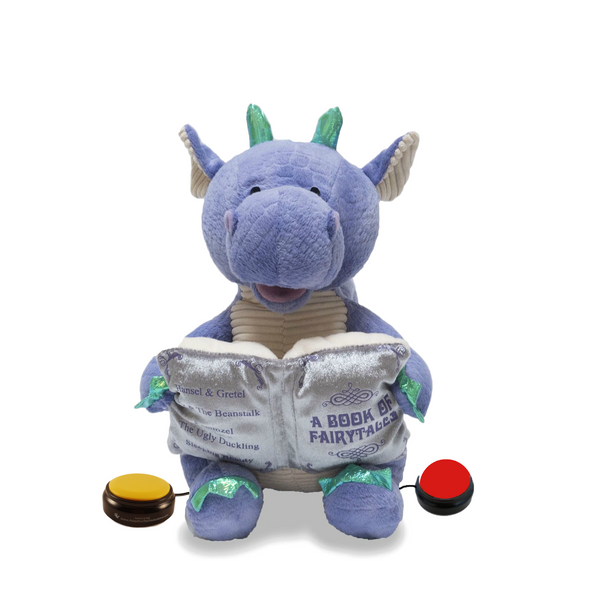 Switch adapted story telling dragon lights up and recites 5 nursery rhymes.