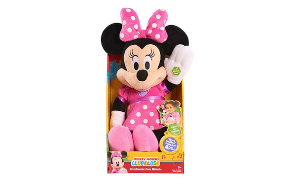 Switch Adapted Minnie Mouse sings, lights up, and talks. Adapted for individuals with disabilities.