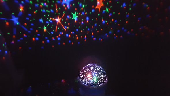 Star projector switch adapted fun for people with disabilities. Fill the room with stars.