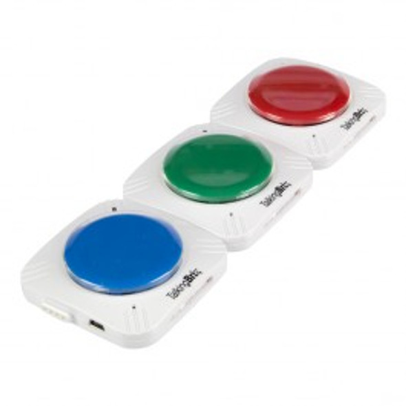 Talking Brix communication buttons link together