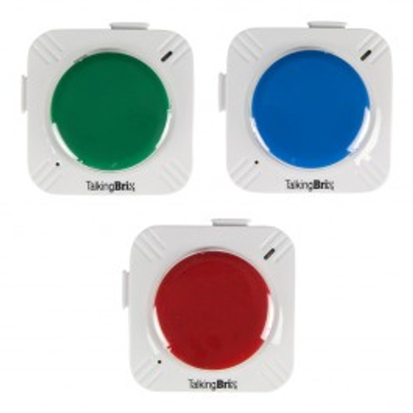 Talking Brix communication buttons have magnets on the back