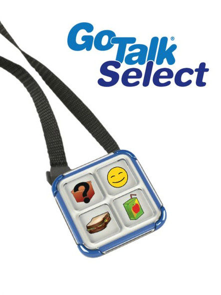 GoTalk Select portable communication device with lanyard