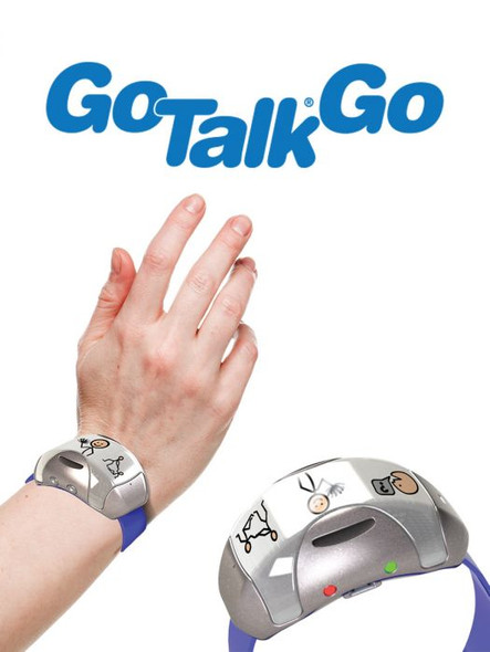 GoTalk Go wearable communication device with capacitive buttons for easy activation