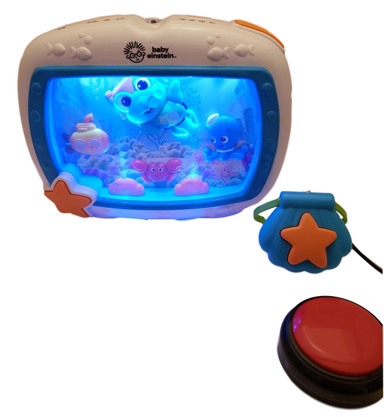 Switch adapted aquarium for people with disabilities.
