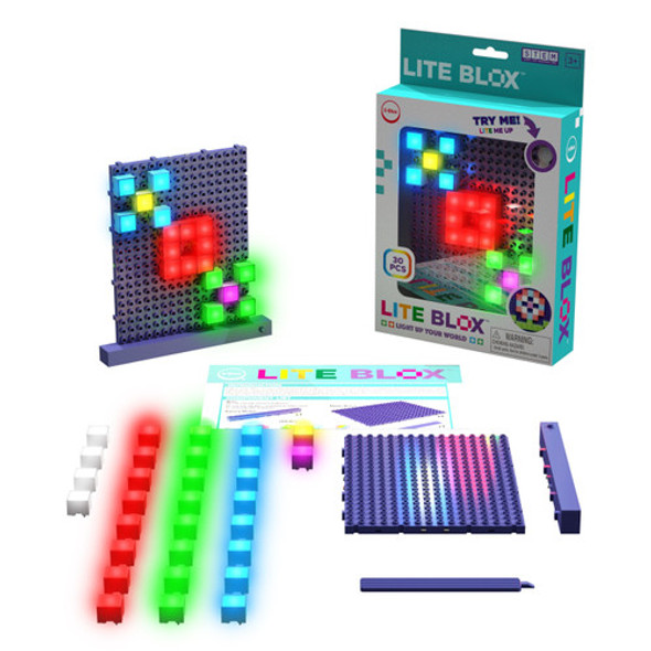 Lite Blox kits can be joined together.