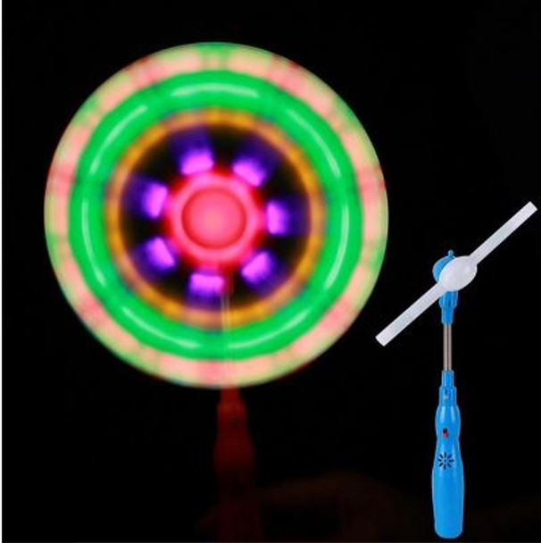 Rainbow Spinner switch adapted toy with music and lights for people with disabilities.