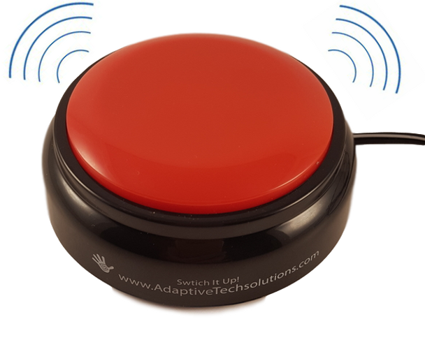 Switch It Up Vibrating switch for people with disabilities provides sensory input