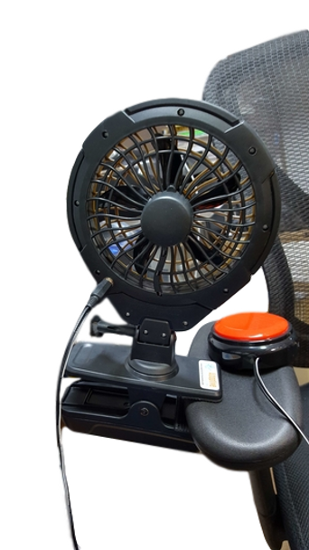 O2Cool Switch Adapted  Clip On Fan for people with disabilities.