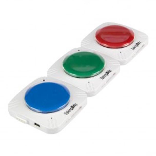Talking Brix communication buttons link together