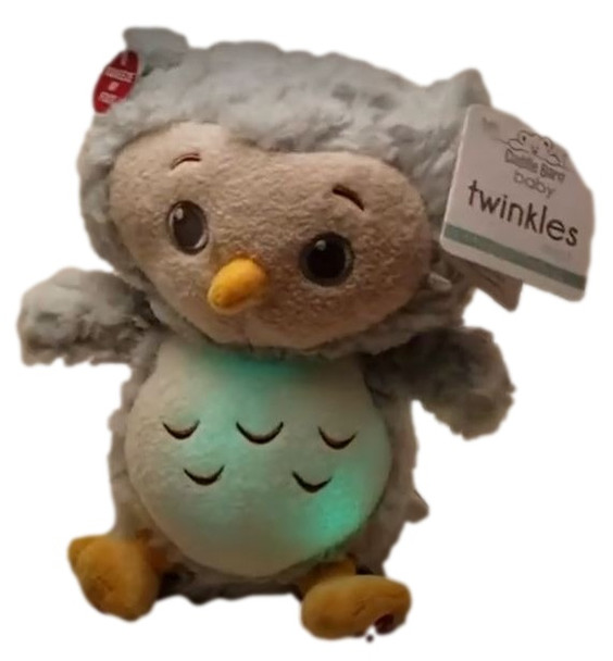 Twinkles switch adapted owl has lights in it's belly