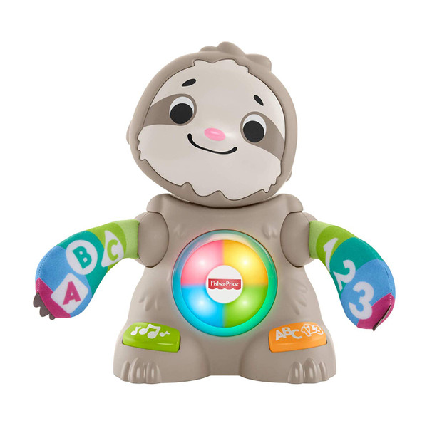 Smooth Moves Sloth Linkimal switch adapted toy for children with disabilies.