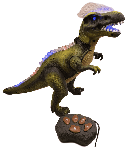 T-Rex switch adapted R/C dinosaur with lights, sounds, and movement.