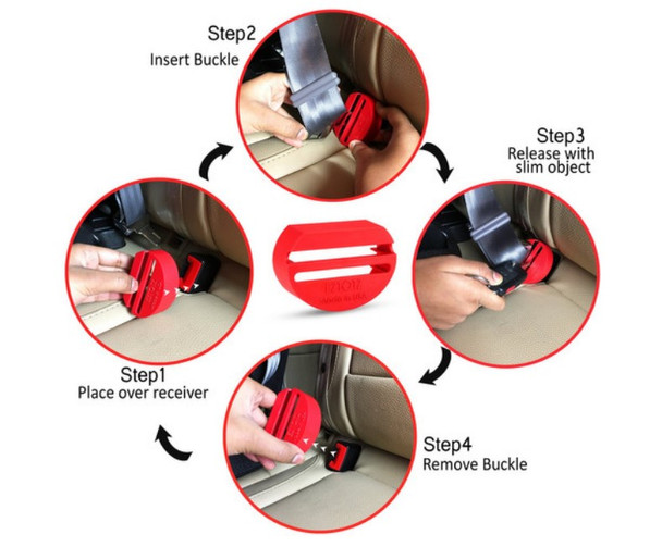 EZtotZ seatbelt guard is easy to install