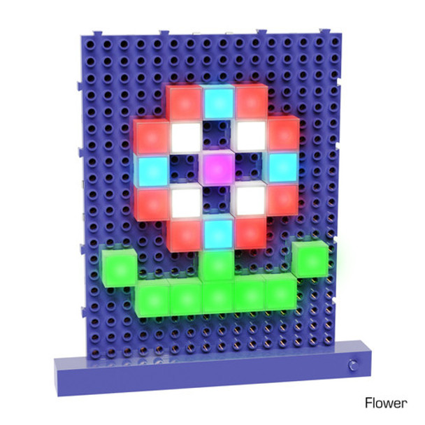 Make shapes such as flowers with Lite Blox.