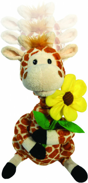 Gerry Girafe switch adapted toy plays music while his neck grows and shrinks