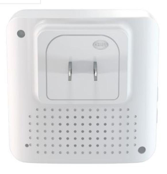 Back of Plug In Chime for caregiver alerting system