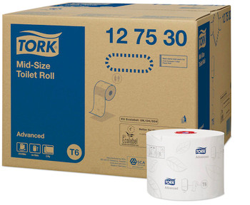 Tork Advanced Toilet Paper Compact Roll 127530 2 Ply 27 Rolls x 100 Metres