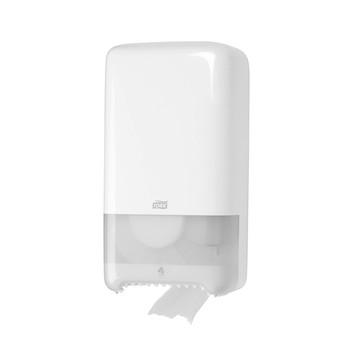 Tork Toilet Paper Compact Roll Auto Shift White Dispenser  (T6 System)