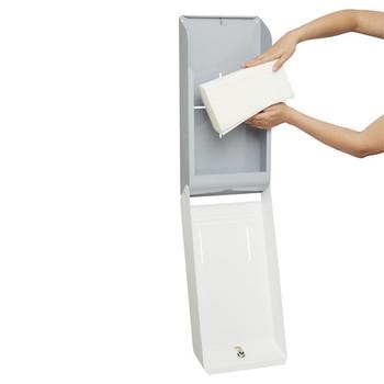4944 Optimum Hand Towel Metal Dispenser - Grey & White