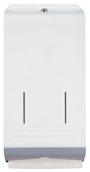 Optimum Hand Towel Metal Dispenser - Grey & White