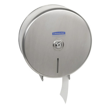 Jumbo Roll Toilet Tissue Dispenser - Stainless Steel