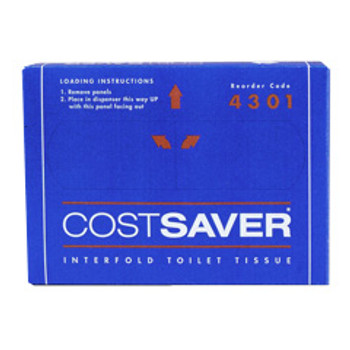 COSTSAVER Interfold Toilet Tissue 72 Packs x 200 Sheets
