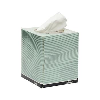 KLEENEX® Facial Tissue Cube 4721 - 2 Ply Facial Tissue - 24 Tissue Boxes x 90 Facial Tissues