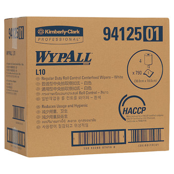 Wypall L10 Regular Duty Roll Control Centrefeed 4 Rolls x 714 wipers/300 Meters