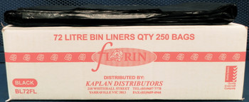 Florin 72 Litres Strong Bin Liners QTY 250 Bags (BL72FL)  Florin Products