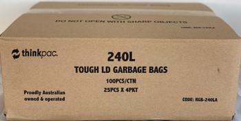 Florin 240 Litres Strong Bin Liners QTY 100 Bags (BL240FL-HD)